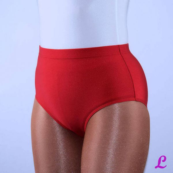 rote Stretchhose aus Satin-stretch
